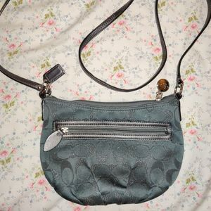 Coach Cloth Crossbody Gray